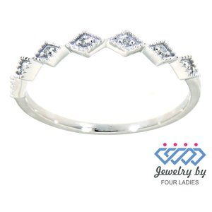 Real Diamond Daily Wear Wedding Band White Gold